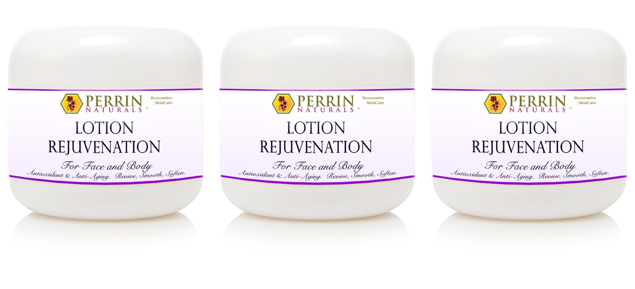 Three Perrin Naturals Lotion Jars