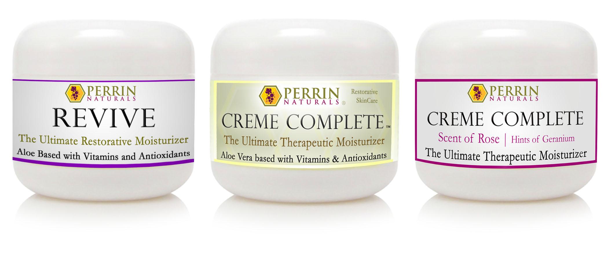 3 pack of perrin naturals creams