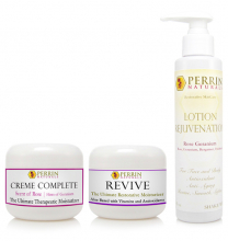 creme complete, revive skin therapy & lotion rejuvenation by perrin naturals