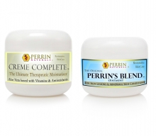 Natural Treatment for Skin Lesions, Basal Cell Carcinoma, Lichen Sclerosus, Actinic Keratosis. Creme Complete and Perrin's Blend special price, by Perrin Naturals