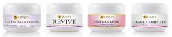 trial sizes of Revive, Rose Creme Complete, Lotion Rejuventation and Nutra Cream