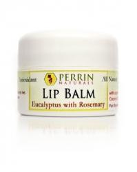 perrin naturals eucalyptus rosemary lip balm